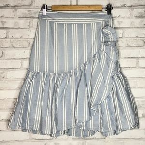 A New Day blue white ruffle skirt s
